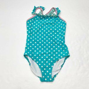 Hanna Andersson Polka Dots One Piece Swimsuit Sz 6